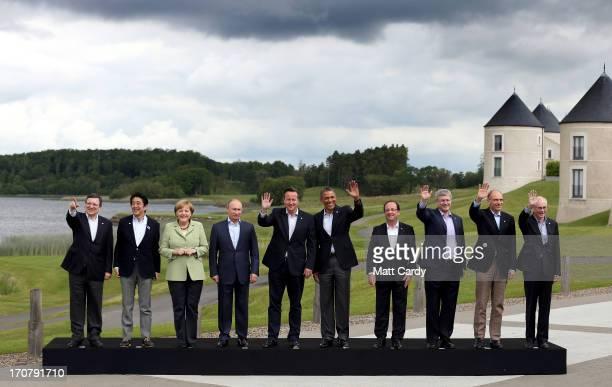 President of the European Commission Jose Manuel Barroso Japanese Prime Minister Shinzo Abe German Chancellor Angela Merkel Russia's President...