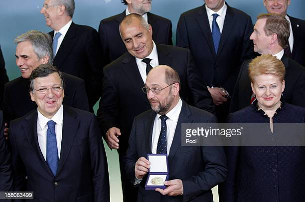 President of the European Commission Jose Manuel Barroso President of the European Parliament Martin Schulz Lithuanian President Dalia Grybauskaite...
