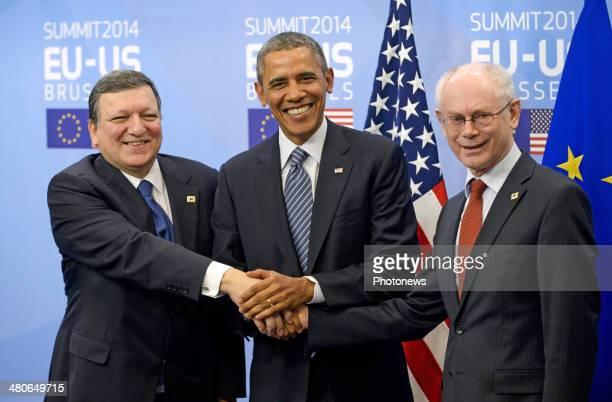 President of the European Commission JoseManuel Barroso President of the United States Barack Obama and President of the European Council Herman van...