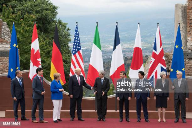 President of the European Council Donald Tusk Candian Prime Minister Justin Trudeau German Chancellor Angela Merkel US President Donald Trump Italian...