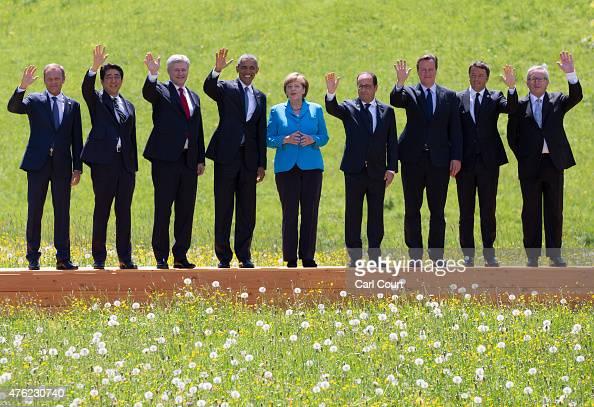 President of the European Council Donald Tusk Japanese Prime Minister Shinzo Abe Canada's Prime Minister Stephen Harper US President Barack Obama...