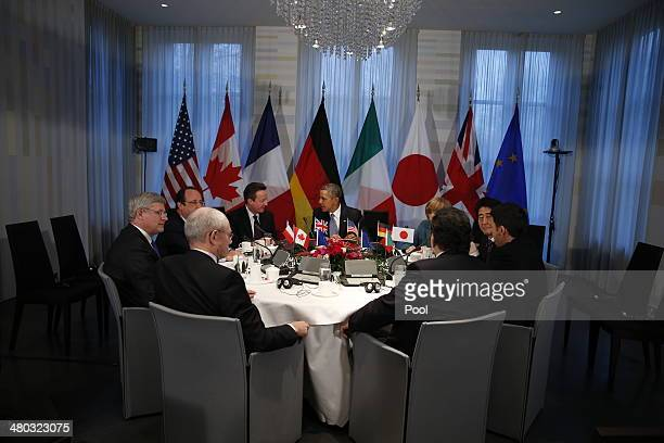 President of the European Council Herman van Rompuy Canadian Prime Minister Stephen Harper French President Francois Hollande British Prime Minster...
