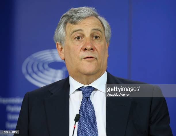 President of the European Parliament Antonio Tajani President of the European Commission JeanClaude Juncker and High Representative of the Union for...