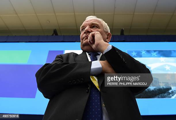 President of the European People's Party French Joseph Daul listens during the European People's Party Statuary Congress in Madrid on October 22 2015...