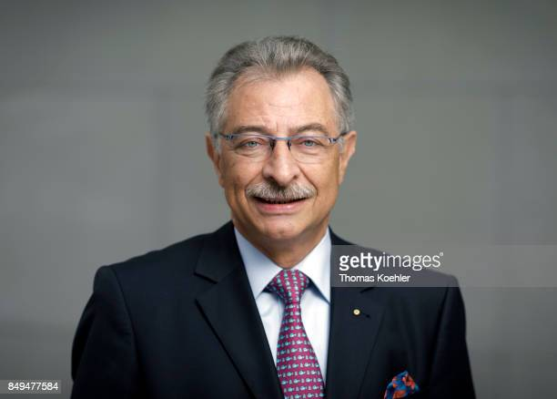 President of the Federation of German Industry Dieter Kempf poses for a picture after an interview on September 15 2017 in Berlin Germany