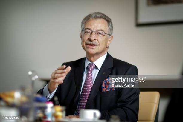 President of the Federation of German Industry Dieter Kempf speaks during an interview on September 15 2017 in Berlin Germany