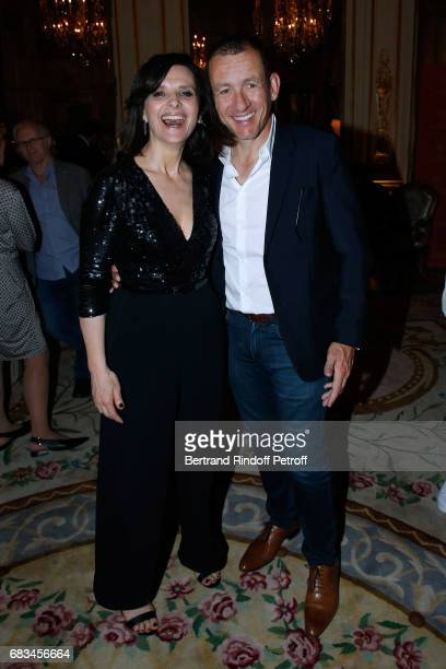 President of the Festival Juliette Binoche and actor Dany Boon attend the 7th Chinese Film Festival Opening Cocktail at Hotel Meurice on May 15 2017...
