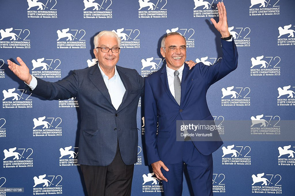 President of the Festival Paolo Baratta and Venice Film Festival Director Alberto Barbera attend the Jury Photocall during the 72nd Venice Film...