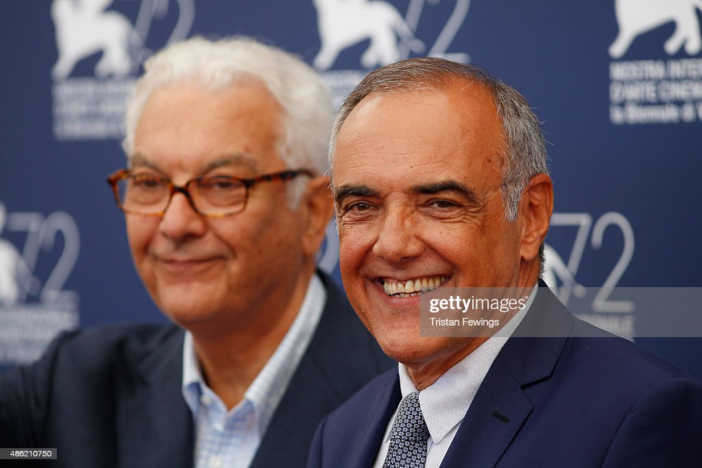 President of the Festival Paolo Baratta and Venice Film Festival Director Alberto Barbera attend the Jury Photocall during the 72nd Venice Film Festival on September 2, 2015 in Venice, Italy.