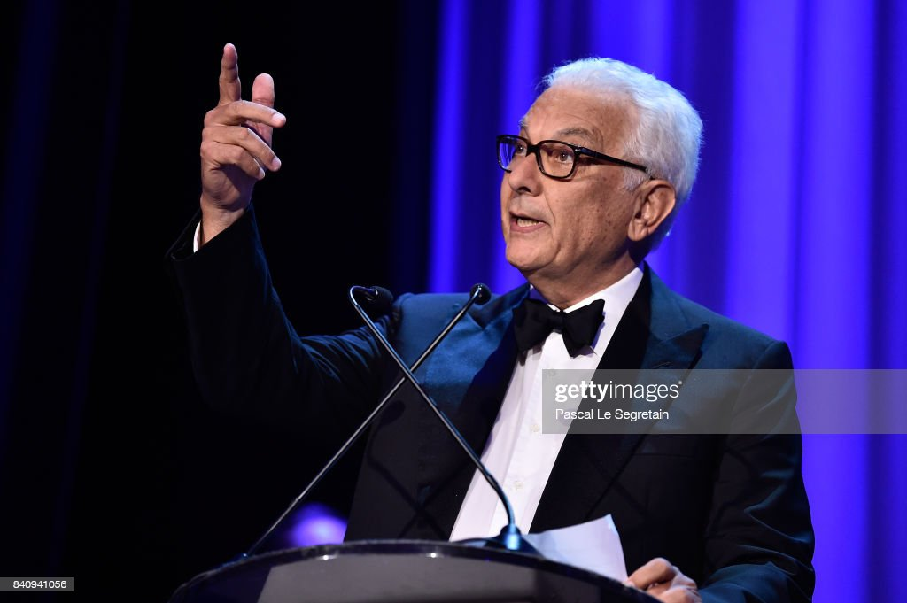 President of the festival Paolo Baratta attends the 'Downsizing' screening and Opening Ceremony during the 74th Venice Film Festival at Sala Grande on August 30, 2017 in Venice, Italy.