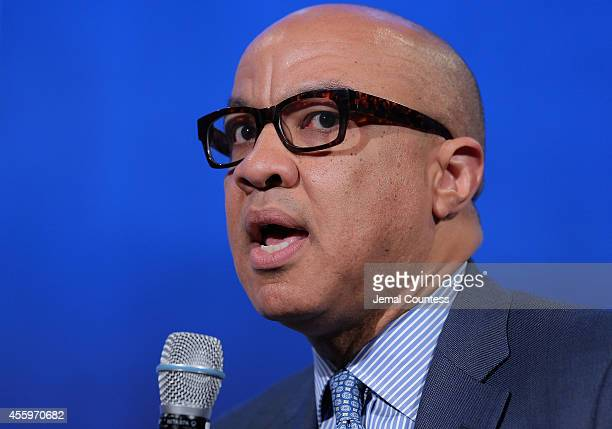 President of the Ford Foundation Darren Walker speaks during the 'Valuing What Matters' panal discussion during the third day of the Clinton Global...
