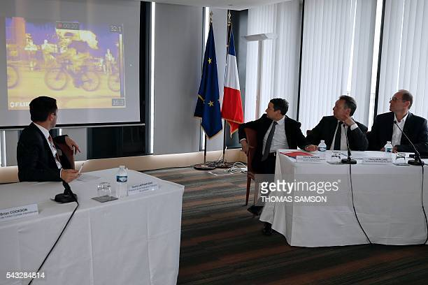 President of the French cycling federation David Lappartient French Minister for Higher Education and Research Thierry Mandon French Minister for...