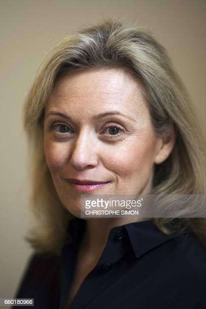 President of the French Professionnal Football League Nathalie Boy De La Tour poses during a photo session in her office in Paris on March 28 2017...