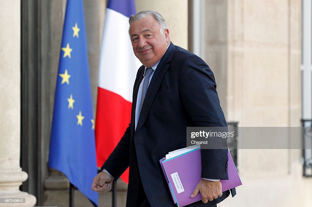 President of the French Senate, Gerard Larcher arrives at the Elysee Presidential Palace for a meeting on November 15, 2015 in Paris, France. French President Francois Hollande meets party leaders today after a series of fatal shootings in Paris on Friday.