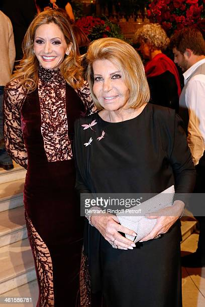 President of the Gala Ulla Parker and Miss Maurice Karaoglan attend Arop Charity Gala with 'Ballet du Theatre Bolchoi' held at Opera Garnier on...