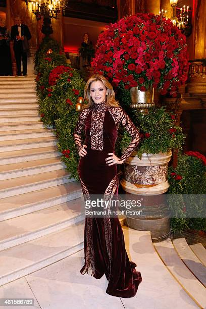 President of the Gala Ulla Parker attends Arop Charity Gala with 'Ballet du Theatre Bolchoi' held at Opera Garnier on January 9 2014 in Paris France