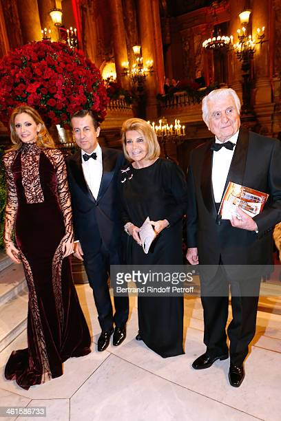 President of the Gala Ulla Parker Cyril Karaoglan with his parents Mr ans Ms Maurice Karaoglan attend Arop Charity Gala with 'Ballet du Theatre...