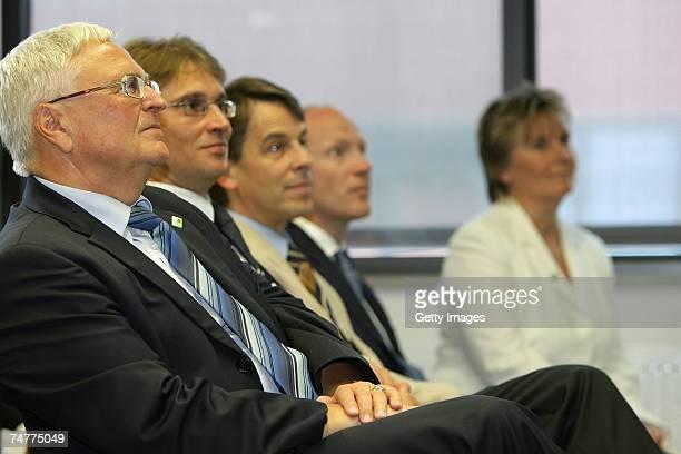 President of the German Football Association Theo Zwanziger State secretary Kjell Eberhardt mayor of Jena Albrecht Schroeter DFB sports manager...