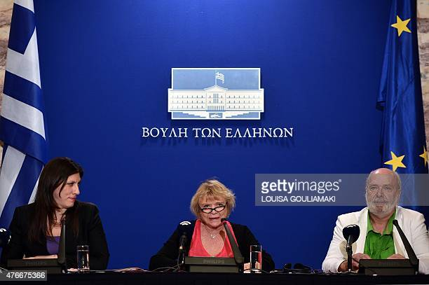 President of the Greek parliament Zoe Konstantopoulou Green party member of the European Parliament Eva Joly and Belgian historian and political...