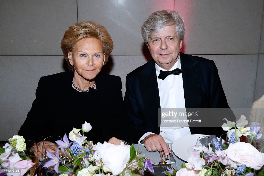 President of the Honorary Committee Nicole Bru and Director of the National Opera Stephane Lissner attend the AROP Charity Gala with the Opera 'Le Roi Arthus', Music and Libretto from Ernest Chausson. Held at Opera Bastille on May 19, 2015 in Paris, France.