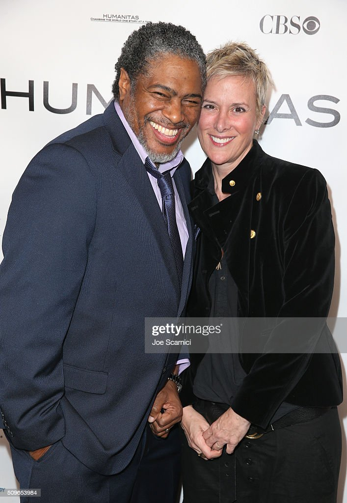 President of the Humanitas Awards Ali LeRoi (L) and Screenwriter Liz Brixius attend the 41st Humanitas Prize Awards Ceremony at Directors Guild Of America on February 11, 2016 in Los Angeles, California.