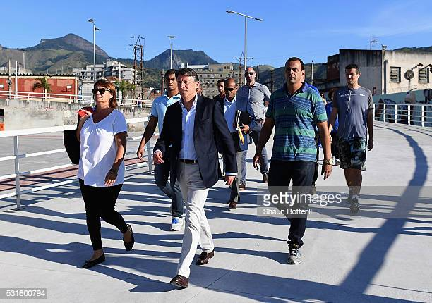 President of the IAAF Lord Sebastian Coe arrives by train for the Ibero American Athletics Championships Aquece Rio Test Event for the Rio 2016...