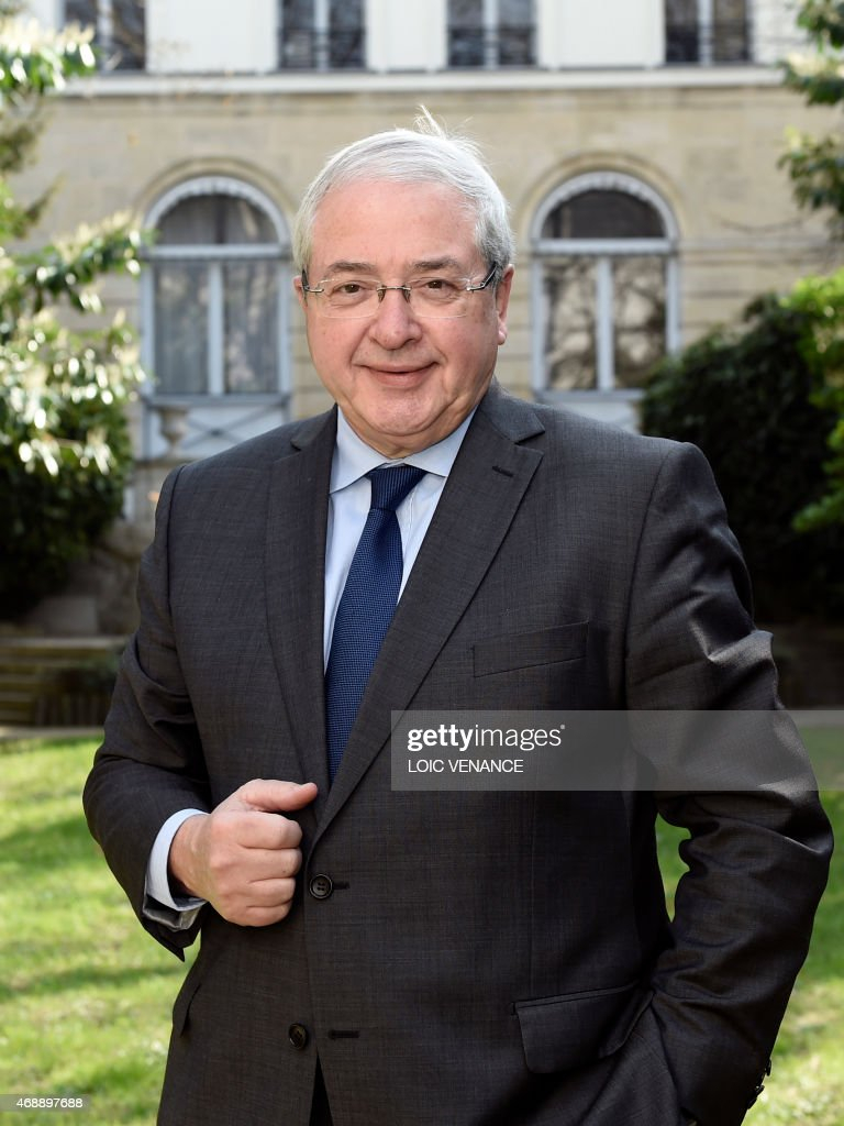 President of the Ile-de-France region general council <a gi-track='captionPersonalityLinkClicked' href=/galleries/search?phrase=Jean-Paul+Huchon&family=editorial&specificpeople=543988 ng-click='$event.stopPropagation()'>Jean-Paul Huchon</a> poses, on April 8, 2015 at the general council headquarters in Paris. AFP PHOTO / LOIC VENANCE