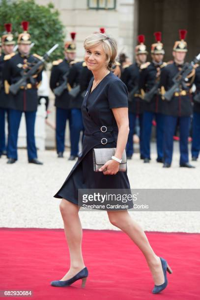 President of the IledeFrance region Valerie Pecresse arrives at the Elysee Palace prior to the handover ceremony for New French President Emmanuel...