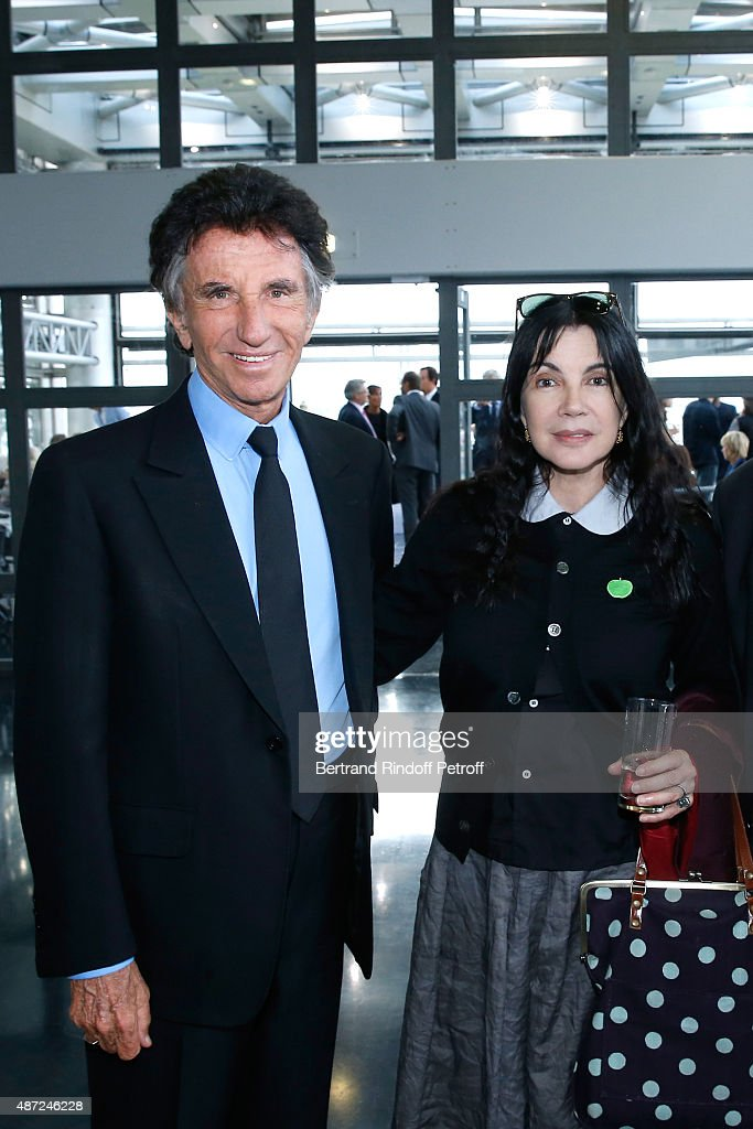 President of the 'Institut du Monde Arabe' Jack Lang and Carole Laure attend the Inauguration of the 'Osiris, Mysteres Engloutis d'Egypte' at Institut du Monde Arabe, by the President of the French Republic Francois Hollande. On September 7, 2015 in Paris, France.