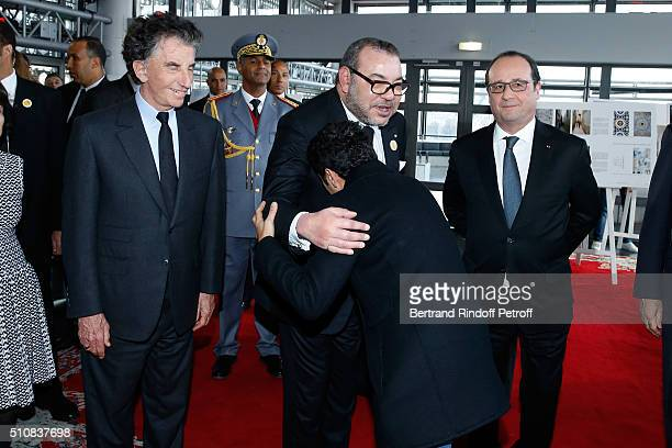 President of the 'Institut du Monde Arabe' Jack Lang King Mohammed VI of Morocco and French President Francois Hollande attend King Mohammed VI of...