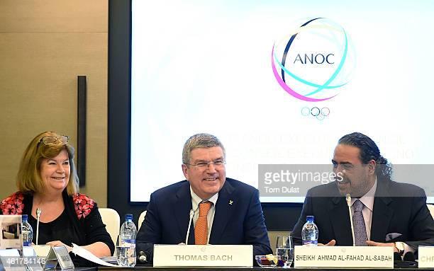 President of the International Olympic Committee Thomas Bach President of the Olympic Council of Asia Sheikh Ahmad AlFahad Al Sabah and ANOC...