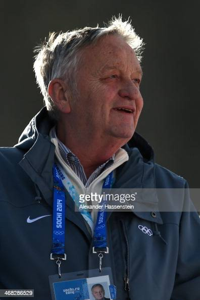 President of the International Ski Federation GianFranco Kasper attends the Alpine Skiing Women's Super Combined Downhill on day 3 of the Sochi 2014...