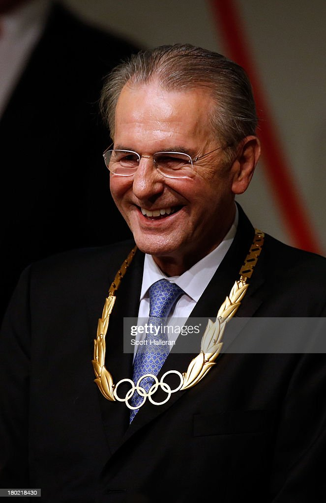 President of the IOC <a gi-track='captionPersonalityLinkClicked' href=/galleries/search?phrase=Jacques+Rogge&family=editorial&specificpeople=206143 ng-click='$event.stopPropagation()'>Jacques Rogge</a> looks on as he receives the Olympic Order during the 125th IOC Session - IOC Presidential Election at the Hilton Hotel on on September 10, 2013 in Buenos Aires, Argentina.