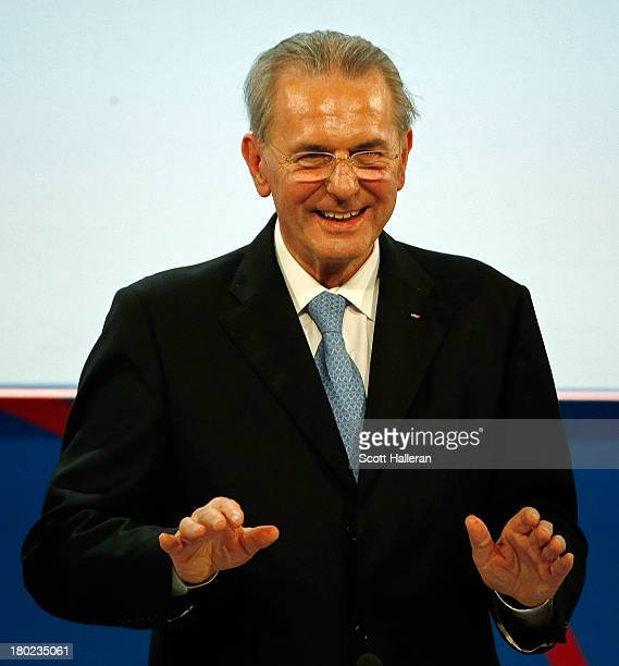President of the IOC Jacques Rogge makes his Closing Speech during the 125th IOC Session IOC Presidential Election at the Hilton Hotel on on...