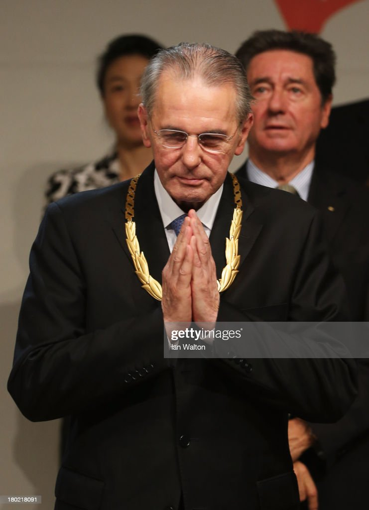President of the IOC <a gi-track='captionPersonalityLinkClicked' href=/galleries/search?phrase=Jacques+Rogge&family=editorial&specificpeople=206143 ng-click='$event.stopPropagation()'>Jacques Rogge</a> receives the Olympic Order during the 125th IOC Session - IOC Presidential Election at the Hilton Hotel on on September 10, 2013 in Buenos Aires, Argentina.