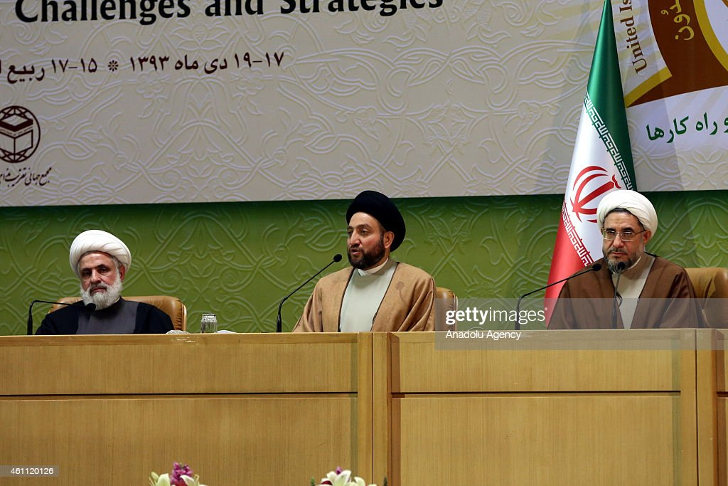 President of the Islamic Supreme Ammar alHakim attends the 28th International Islamic Unity Conference in the capital Tehran Iran on January 7 2015
