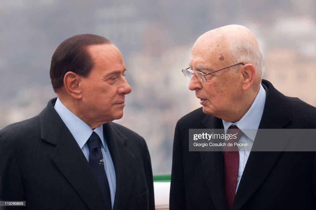 Silvio Berlusconi Attends Ceremonies To Mark 150th Anniversary Of Italy Unification