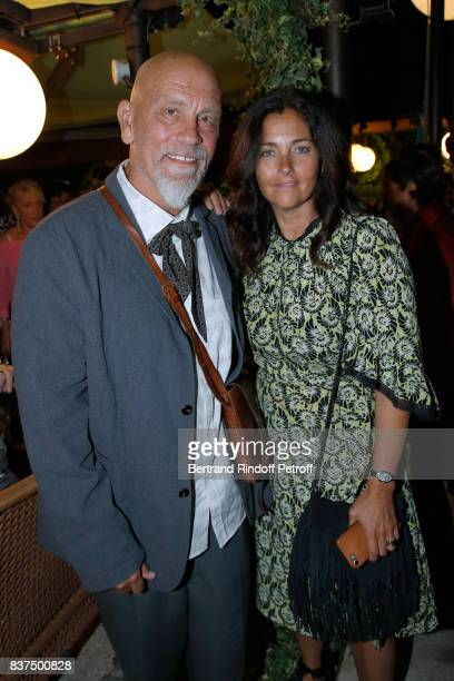 President of the Jury actor John Malkovich and President of the Student Jury actress Cristiana Reali attend the 10th Angouleme FrenchSpeaking Film...