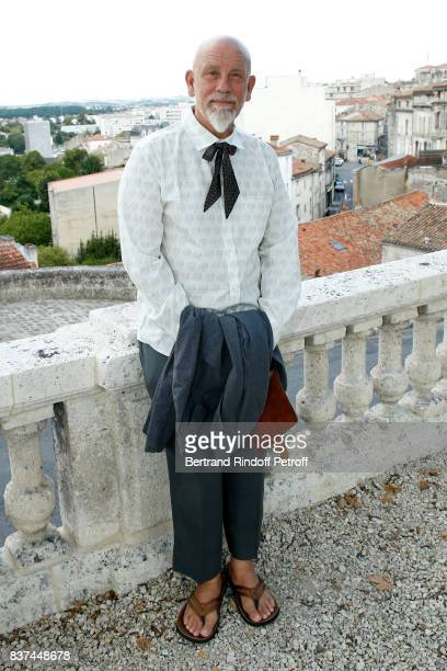 President of the Jury actor John Malkovich attends the 10th Angouleme FrenchSpeaking Film Festival Jury Photo Call on August 22 2017 in Angouleme...