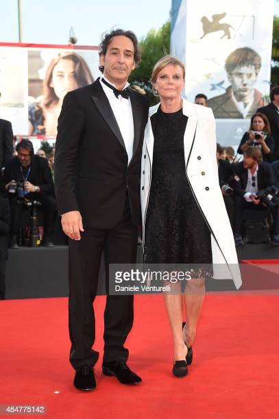 President of the Jury Alexandre Desplat and Dominique Lemonnier attend the Closing Ceremony during the 71st Venice Film Festival at Sala Grande on...
