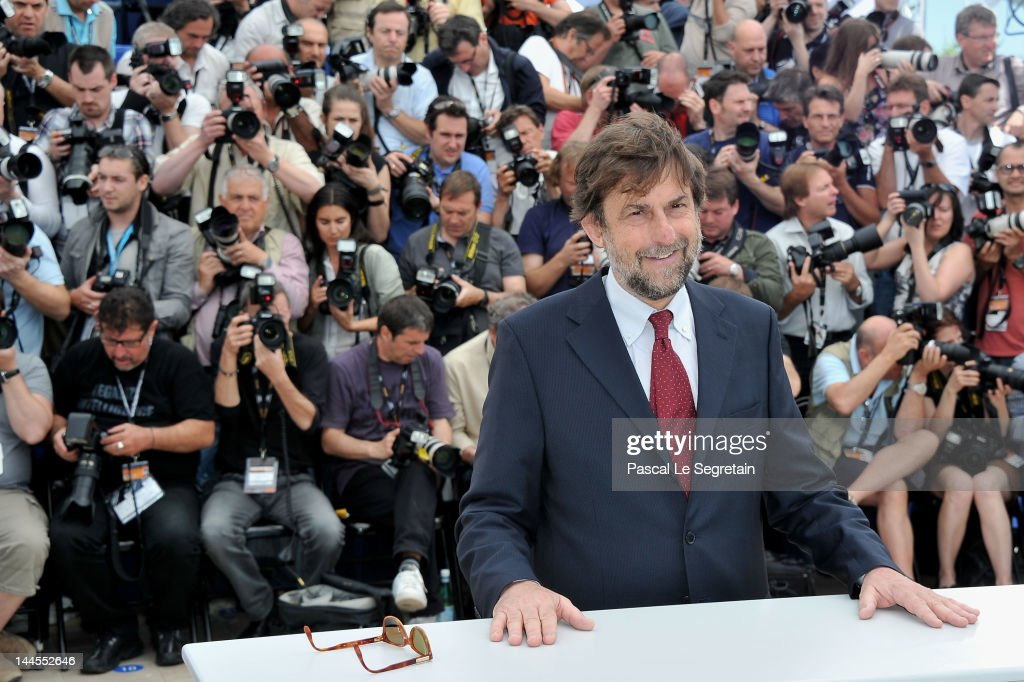 President of the Jury Director Nanni Moretti poses at the Feature Film Jury Photocall during the 65th Annual Cannes Film Festival at Palais des Festivals on May 16, 2012 in Cannes, France.
