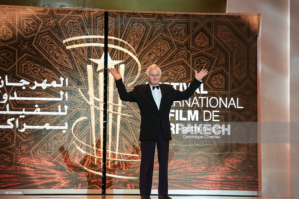 President of the jury of the 12th Marrakech International Film Festival, British film director <a gi-track='captionPersonalityLinkClicked' href=/galleries/search?phrase=John+Boorman&family=editorial&specificpeople=213769 ng-click='$event.stopPropagation()'>John Boorman</a> arrives for the opening ceremony of the 12th Marrakesh International Film Festival on November 30, 2012 in Marrakech, Morocco.