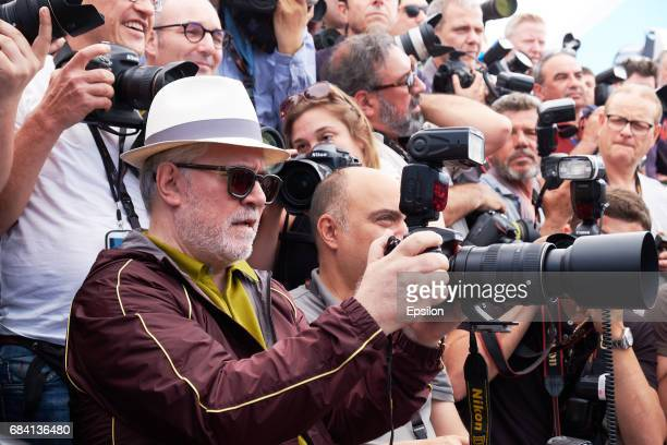 President of the jury Pedro Almodovar attends the Jury photocall during the 70th annual Cannes Film Festival at Palais des Festivals on May 17 2017...