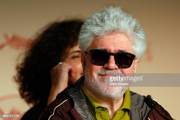 President of the jury Pedro Almodovar attends the Jury press conference during the 70th annual Cannes Film Festival at Palais des Festivals on May 17...