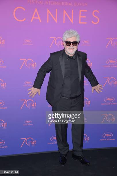 President of the jury Pedro Almodovar attends the Opening Gala Dinner during the 70th annual Cannes Film Festival at Palais des Festivals on May 17...
