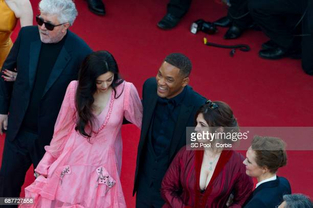 President of the jury Pedro Almodovar jury members Fan Bingbing Will Smith Agnes Jaoui and Maren Ade attend the 70th Anniversary of the 70th annual...