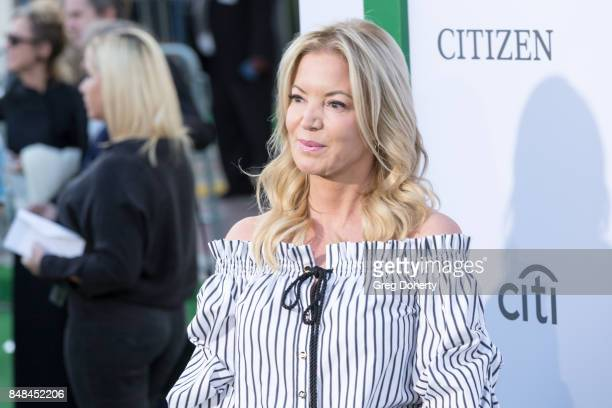 President of the LA Lakers Jeanie Buss arrives for the Premiere Of Fox Searchlight Pictures' 'Battle Of The Sexes' at Regency Village Theatre on...