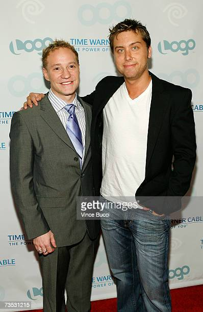 President of the LOGO channel Brain Graden and singer Lance Bass attend the launch party for MTV Network's LOGO Channel on Time Warner Cable at...