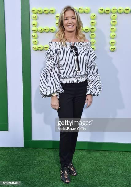 President of the Los Angeles Lakers Jeanie Buss arrives at the premiere of Fox Searchlight Pictures' 'Battle of the Sexes' at Regency Village Theatre...