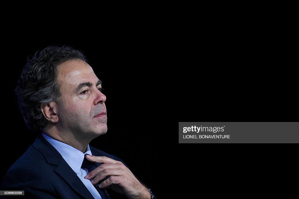 President of the LR National Consil Luc Chatel looks on during the LR National Council on February 13, 2016 in Paris. AFP PHOTO / LIONEL BONAVENTURE / AFP / LIONEL BONAVENTURE